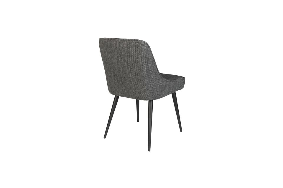 Chaise cosy Magnus couleur anthracite - 9