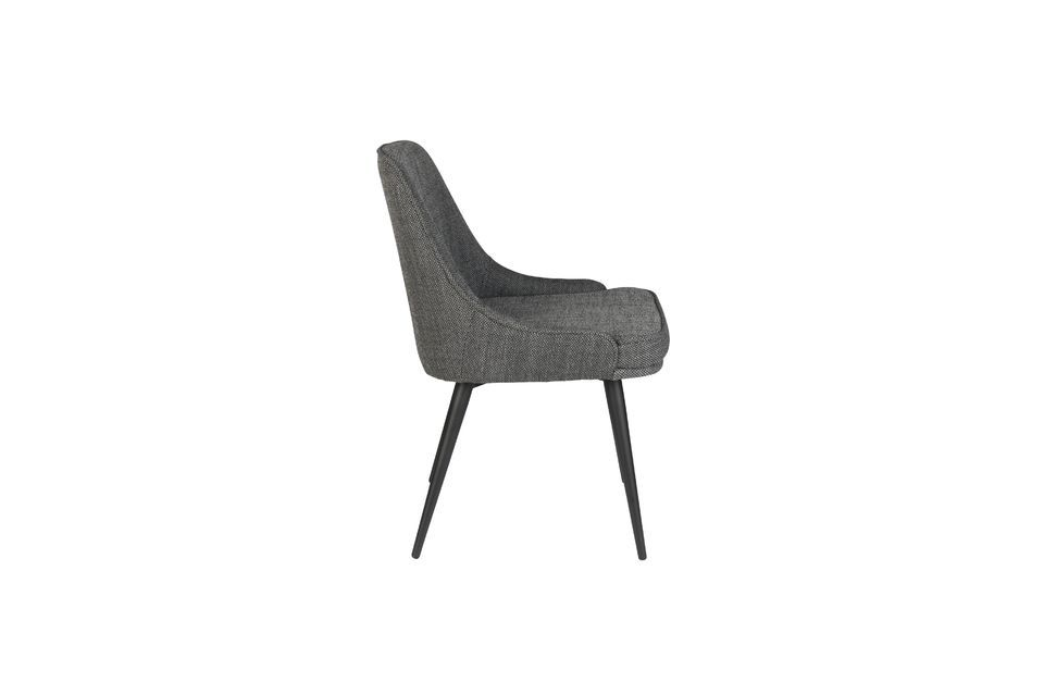 Chaise cosy Magnus couleur anthracite - 10