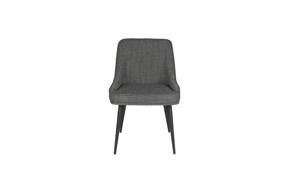 Chaise cosy Magnus couleur anthracite - 11