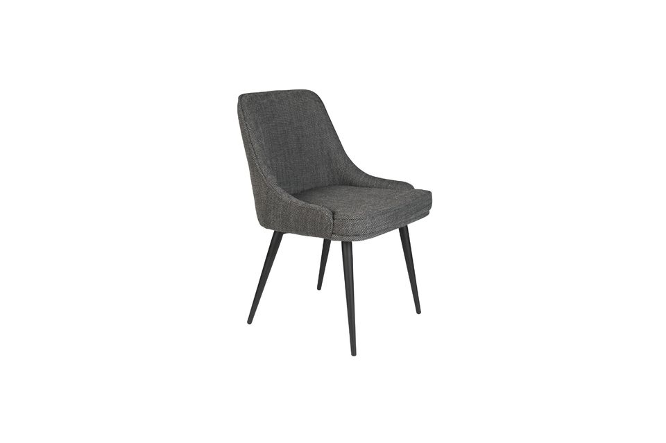 Chaise cosy Magnus couleur anthracite - 8