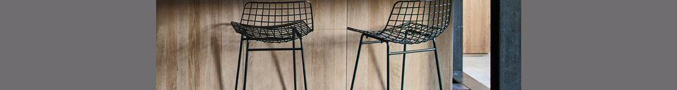 Mise en avant matière Chaise de bar en métal Wuisse