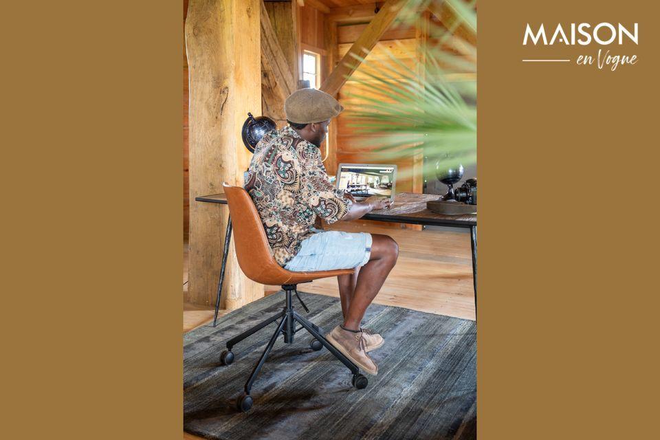 Une chaise de bureau au design contemporain avec hauteur réglable