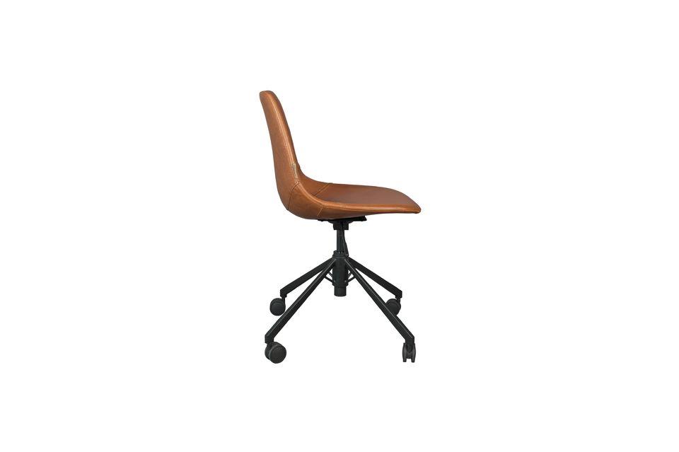 Chaise de bureau Franky marron - 10