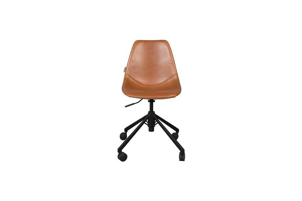 Chaise de bureau Franky marron - 11