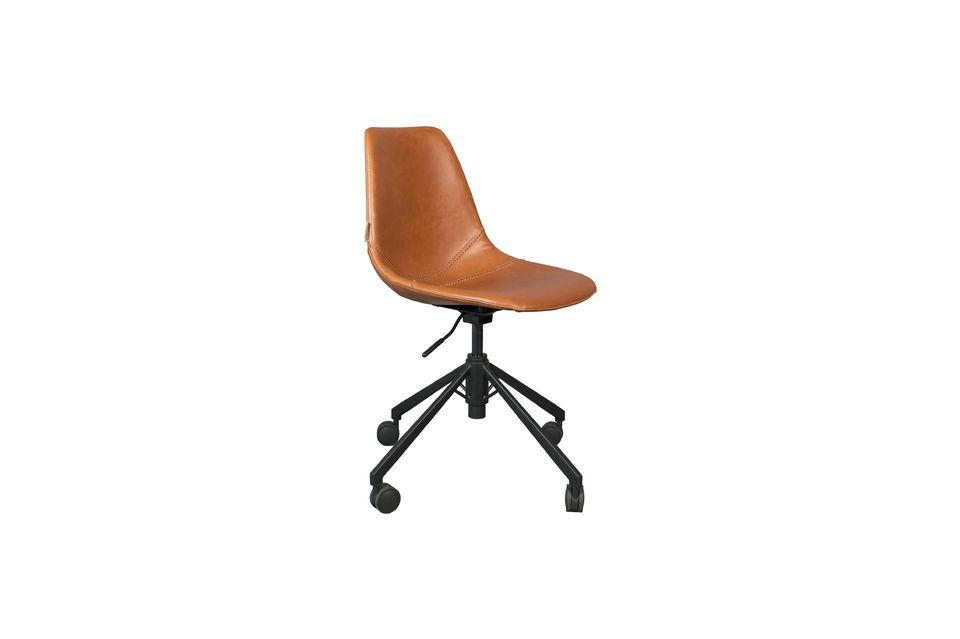 Chaise de bureau Franky marron - 7