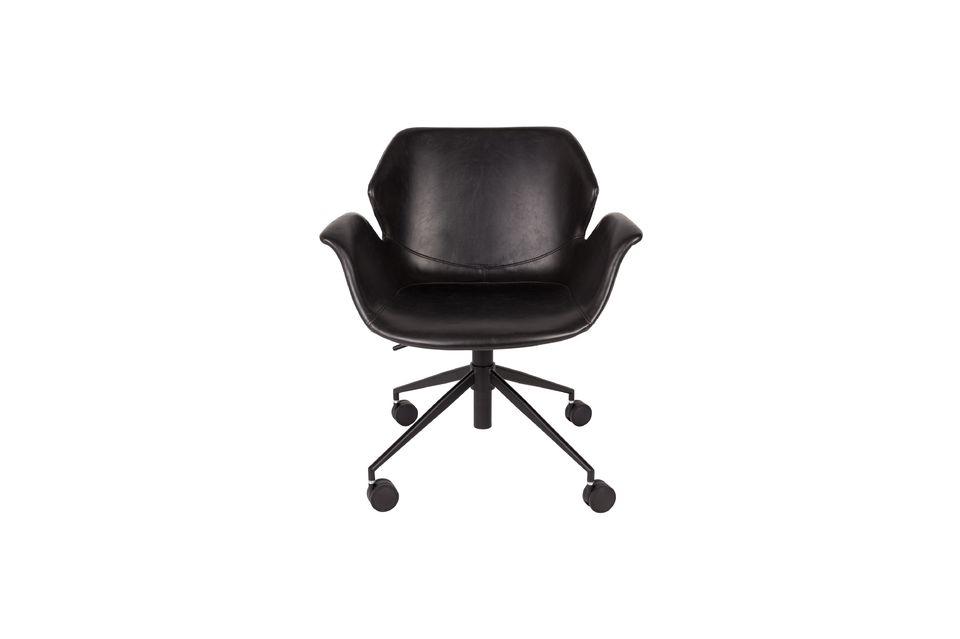 Chaise de bureau Nikki All Black - 4