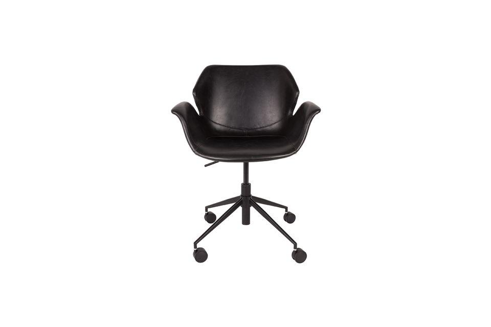 Chaise de bureau Nikki All Black - 5
