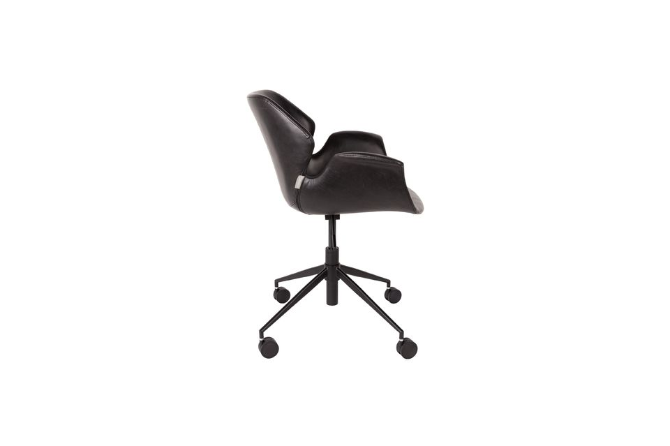 Chaise de bureau Nikki All Black - 8