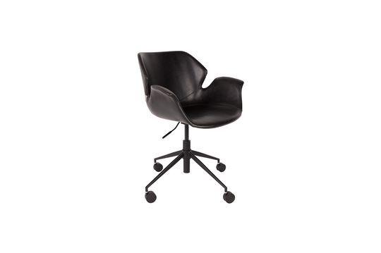Chaise de bureau Nikki All Black Détouré