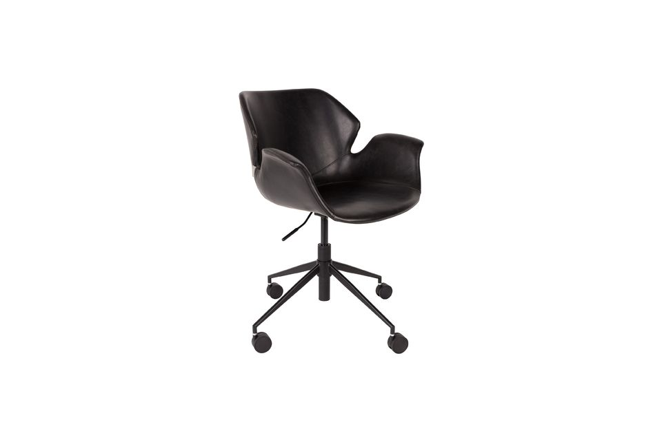 Chaise de bureau Nikki All Black Zuiver