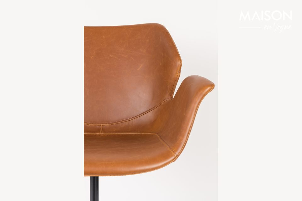 Chaise de bureau Nikki All Brown - 4