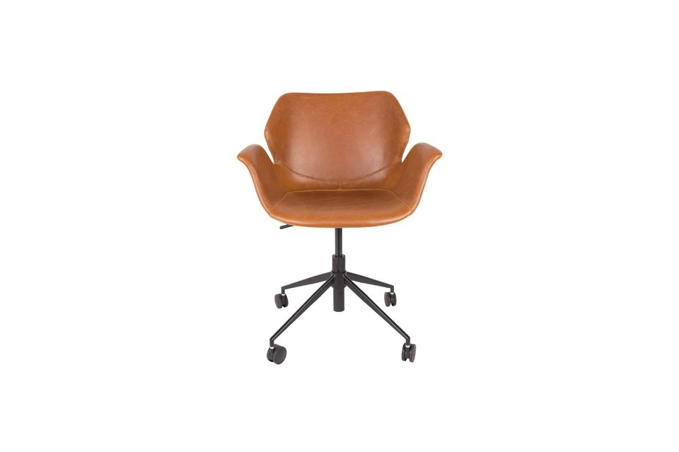 Chaise de bureau Nikki All Brown - 7