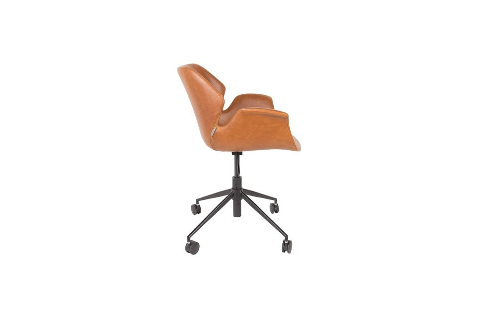 Chaise de bureau Nikki All Brown - 10