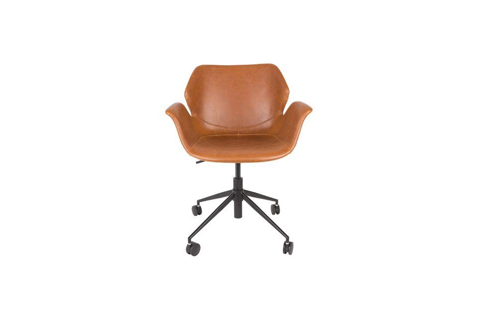 Chaise de bureau Nikki All Brown - 11
