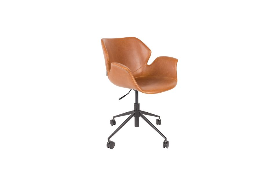 Chaise de bureau Nikki All Brown - 5