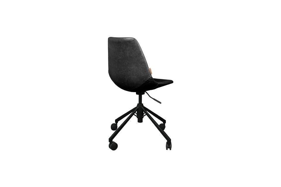 Chaise de bureau noire Franky - 7