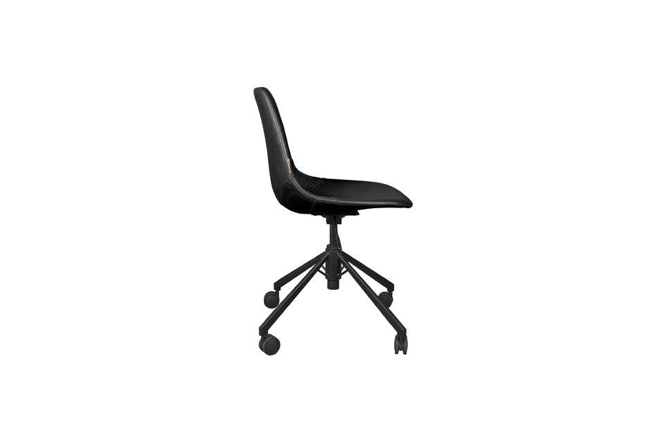 Chaise de bureau noire Franky - 8