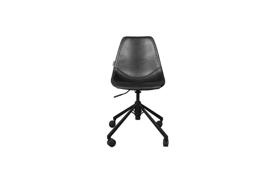 Chaise de bureau noire Franky - 9