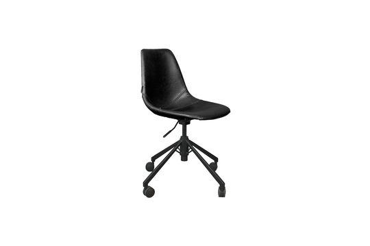 Chaise de bureau noire Franky Détouré