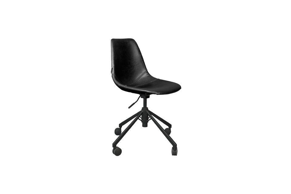 Chaise de bureau noire Franky Dutch Bone