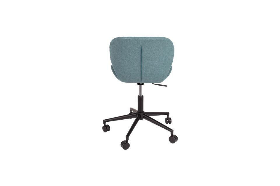 Chaise de bureau OMG noire et bleue - 6