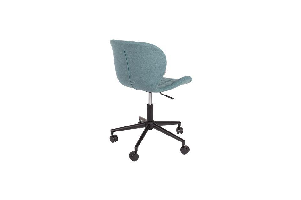 Chaise de bureau OMG noire et bleue - 7