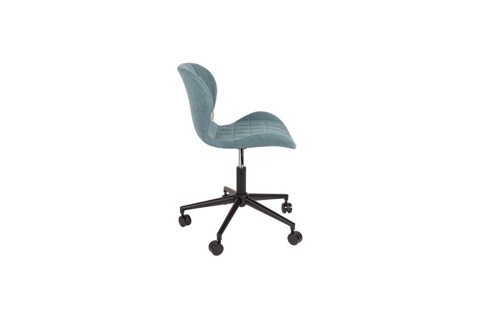 Chaise de bureau OMG noire et bleue - 8