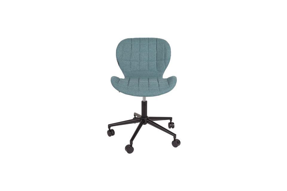 Chaise de bureau OMG noire et bleue - 9