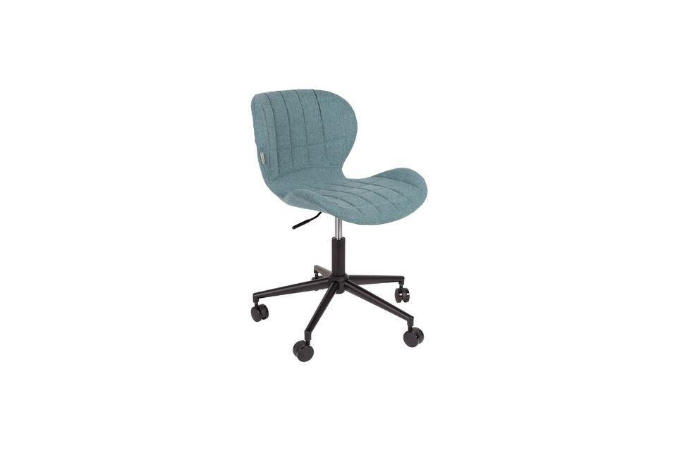 Chaise de bureau OMG noire et bleue Zuiver