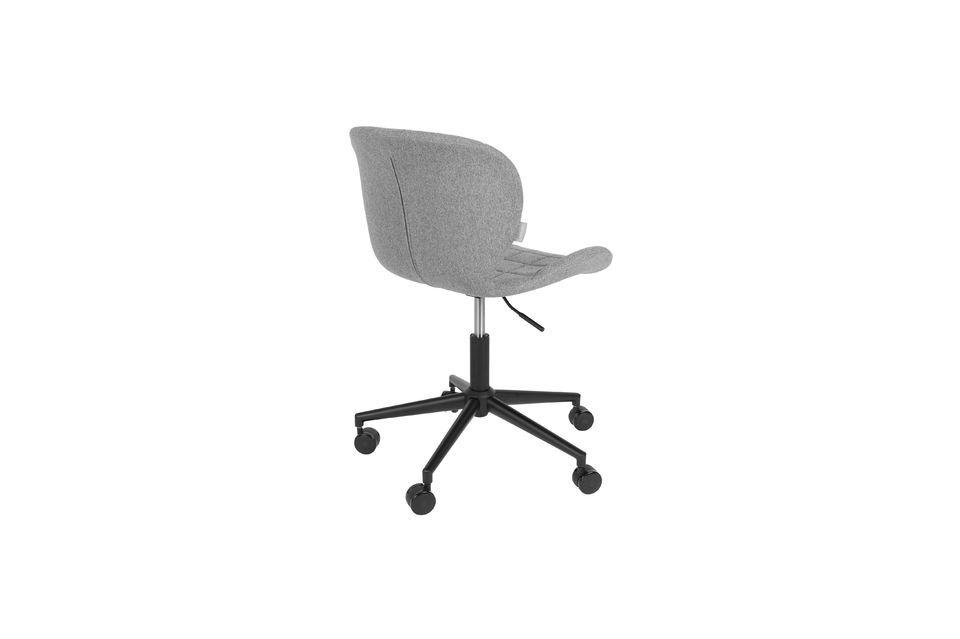 Chaise de bureau OMG noire et grise - 9