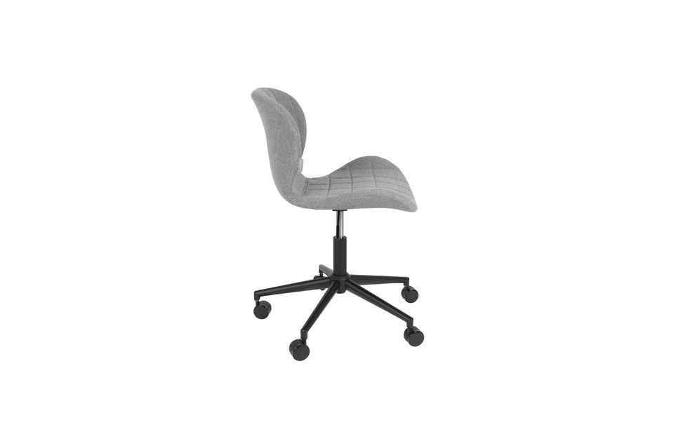 Chaise de bureau OMG noire et grise - 10