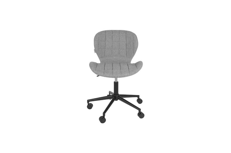 Chaise de bureau OMG noire et grise - 11