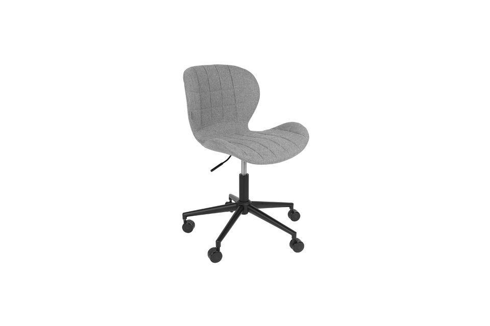 Chaise de bureau OMG noire et grise