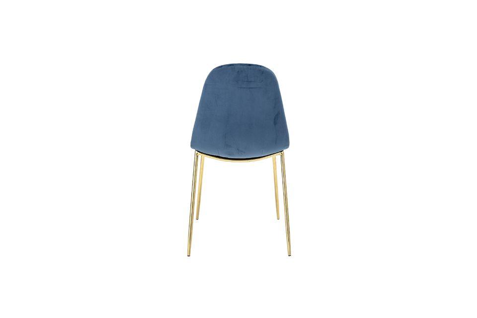 Tendance luxueuse pour cette chaise avec pieds en métal finition doré et avec le duo dossier /