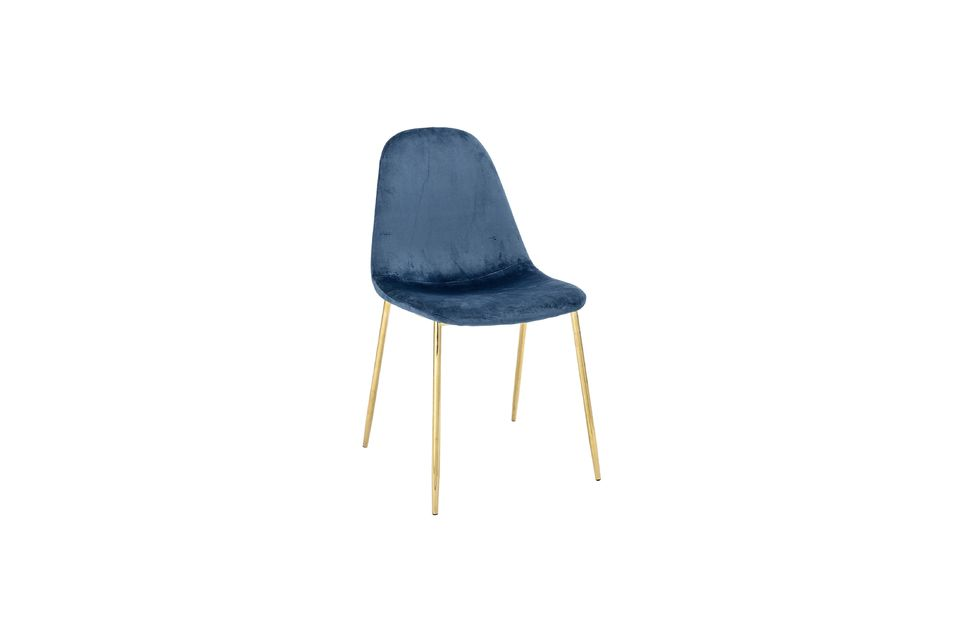 Chaise Em bleue Bloomingville