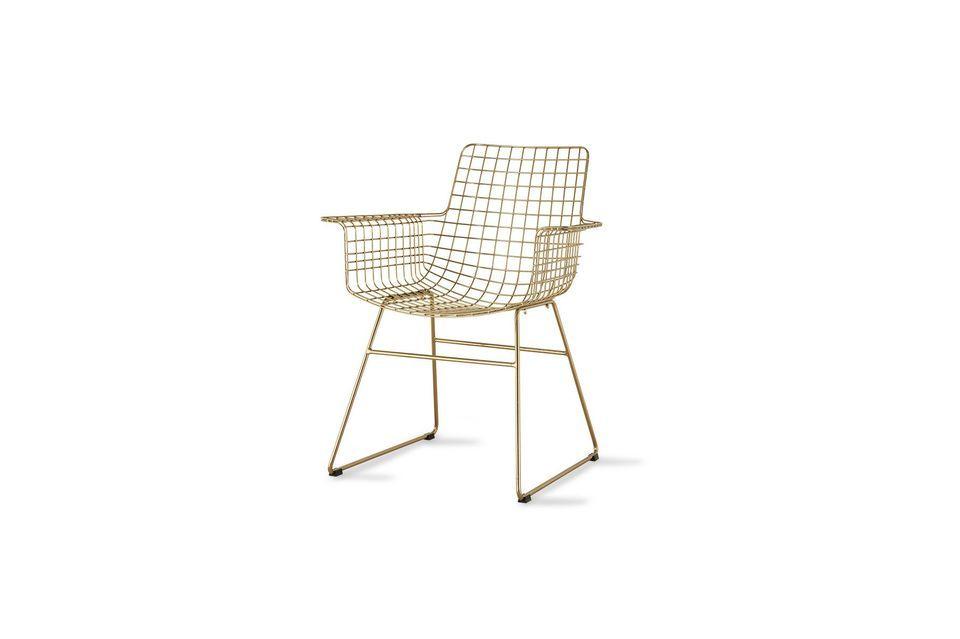Chaise en fil métallique Wuisse HK Living