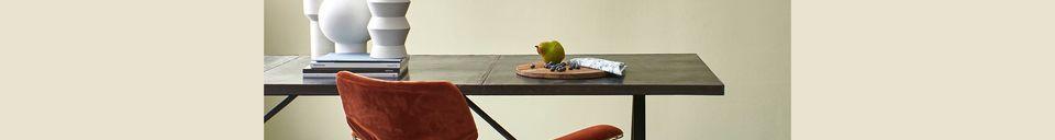 Mise en avant matière Chaise en fil métallique Wuisse