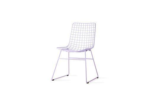 Chaise en métal couleur lilas Détouré