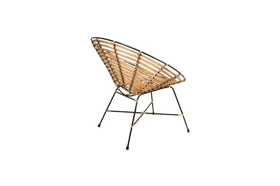 Chaise en rotin Kubu ronde - 9