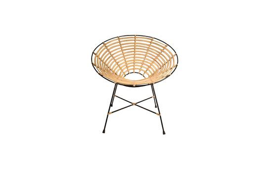 Chaise en rotin Kubu ronde