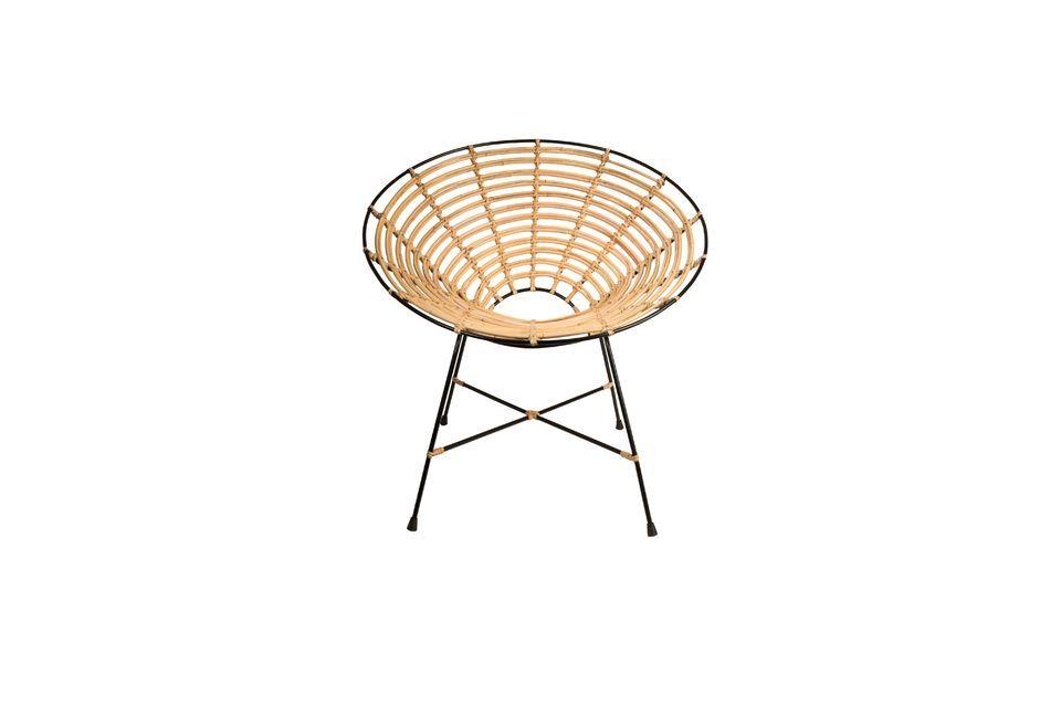 Chaise en rotin Kubu ronde - 8
