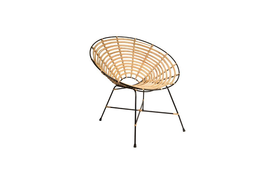 Chaise en rotin Kubu ronde - 10