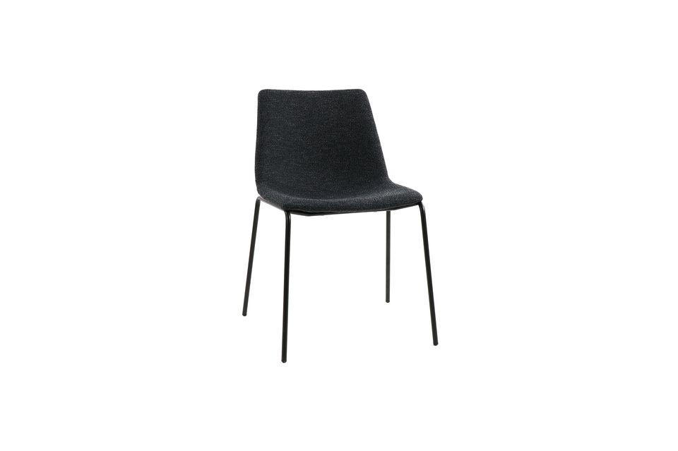Chaise en tissu Romo couleur anthracite