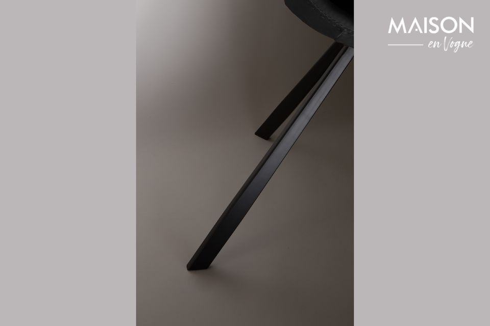 Chaise Franky noire - 5
