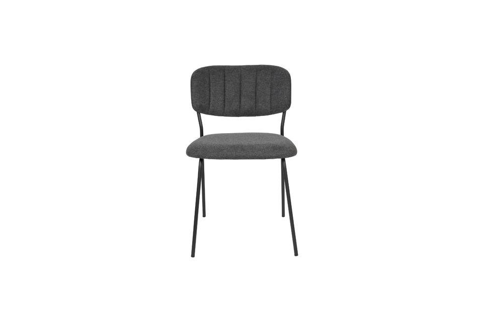Chaise Jolien coloris gris foncé - 6
