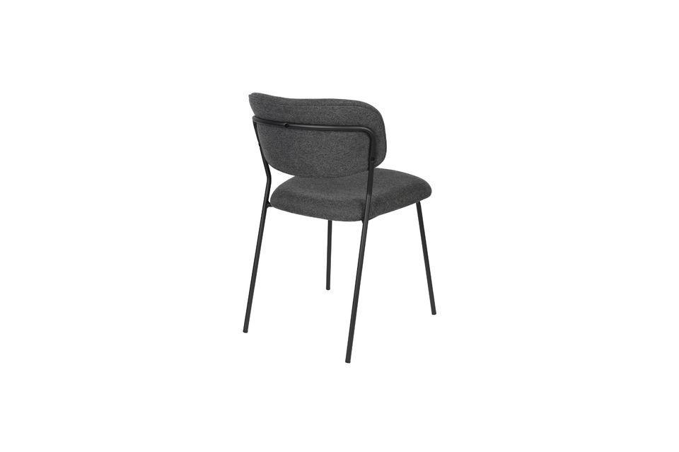 Chaise Jolien coloris gris foncé - 8