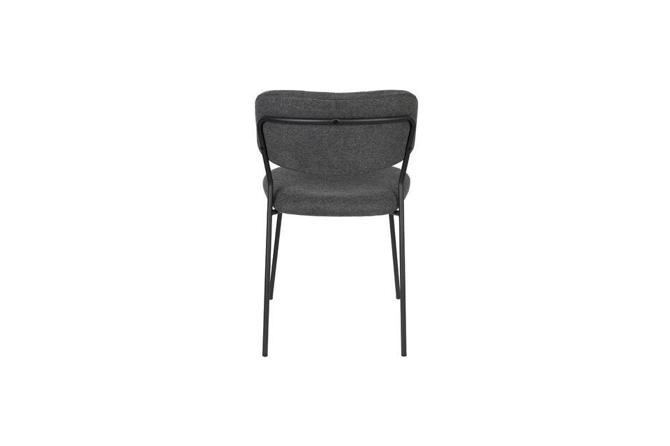 Chaise Jolien coloris gris foncé - 9