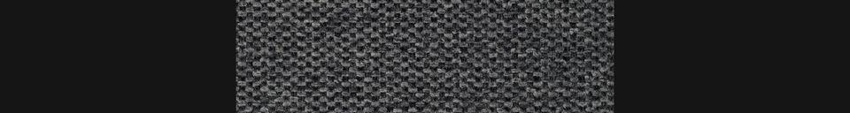 Mise en avant matière Chaise Jolien coloris gris foncé