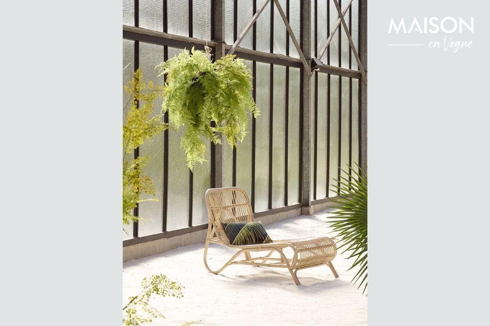 Agréable modèle de chaise longue en rotin d'inspiration asiatique