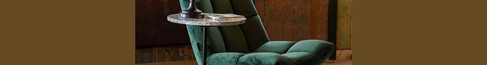 Mise en avant matière Chaise lounge Bar en velours vert